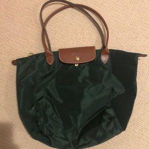 LIKE NEW. Longchamp Le Pliage large tote bag.